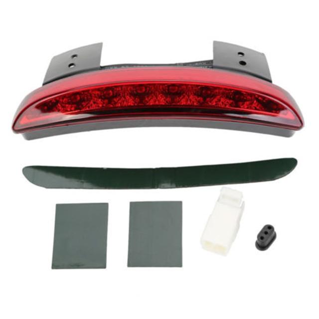 motorfiets auto gemodificeerde accessoires fender staart led verlichting lamp rode lens rem achterlicht assemblage motor