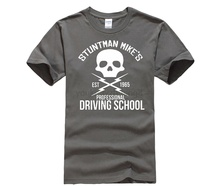 HOT deals T-Shirt-New-Brand-GRINDHOUSE-DEATH-PROOF-Driving-School-T-shirt-Hot-Sale-Casual-Clothing printio slow death t shirt