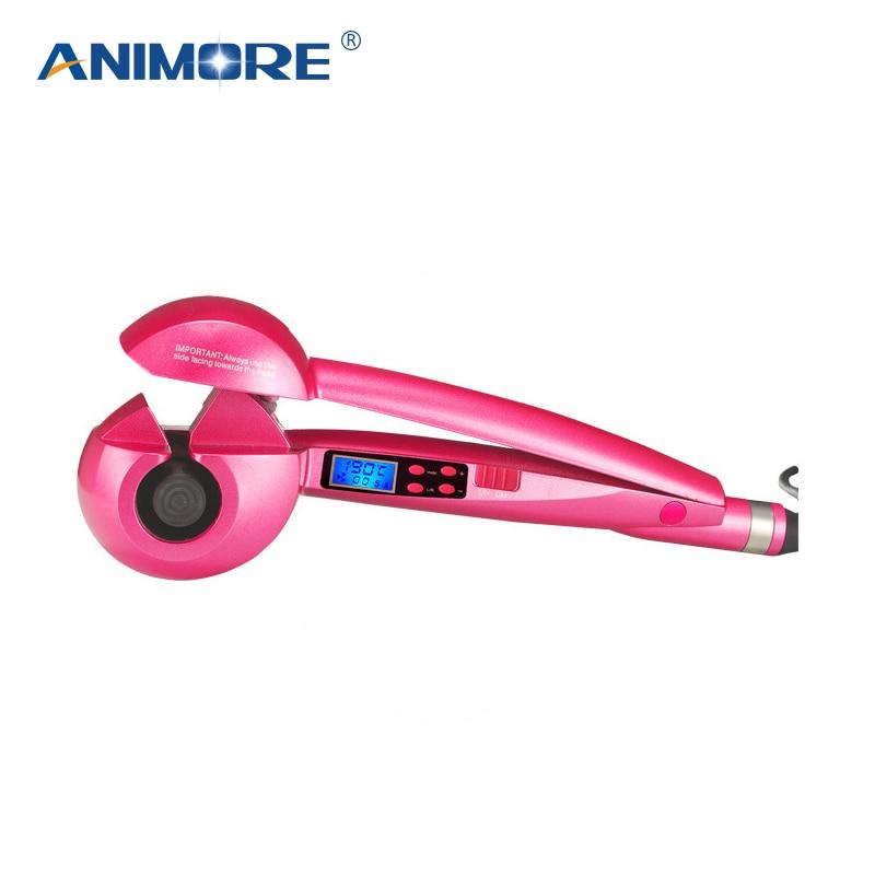 ANIMORE LCD Bildschirm Automatische Curling Eisen Heizung Haarpflege Styling Werkzeuge Keramik Welle Haar Curl-Magic Hair Curler CI-01