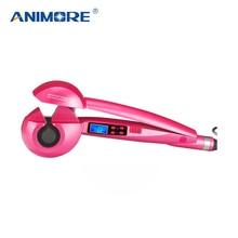 ANIMORE ЖК-экран Автоматическая Плойка для завивки волос уход за волосами Инструменты для укладки керамических волнистых волос Curl Magic Hair Curler CI-01