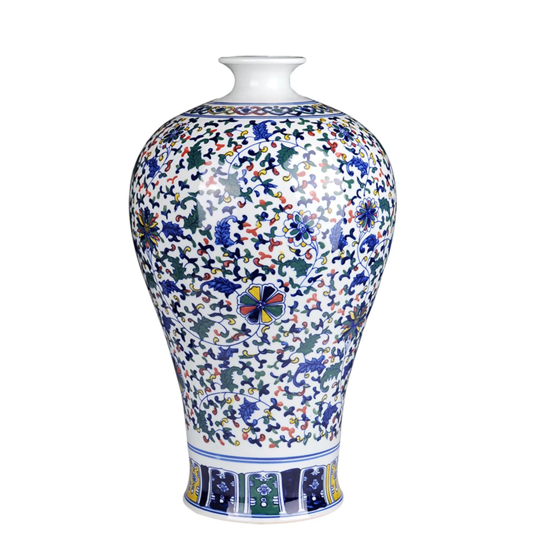 Vasi Da Giardino Colorati stile cinese classico a mano colorato arredamento per la