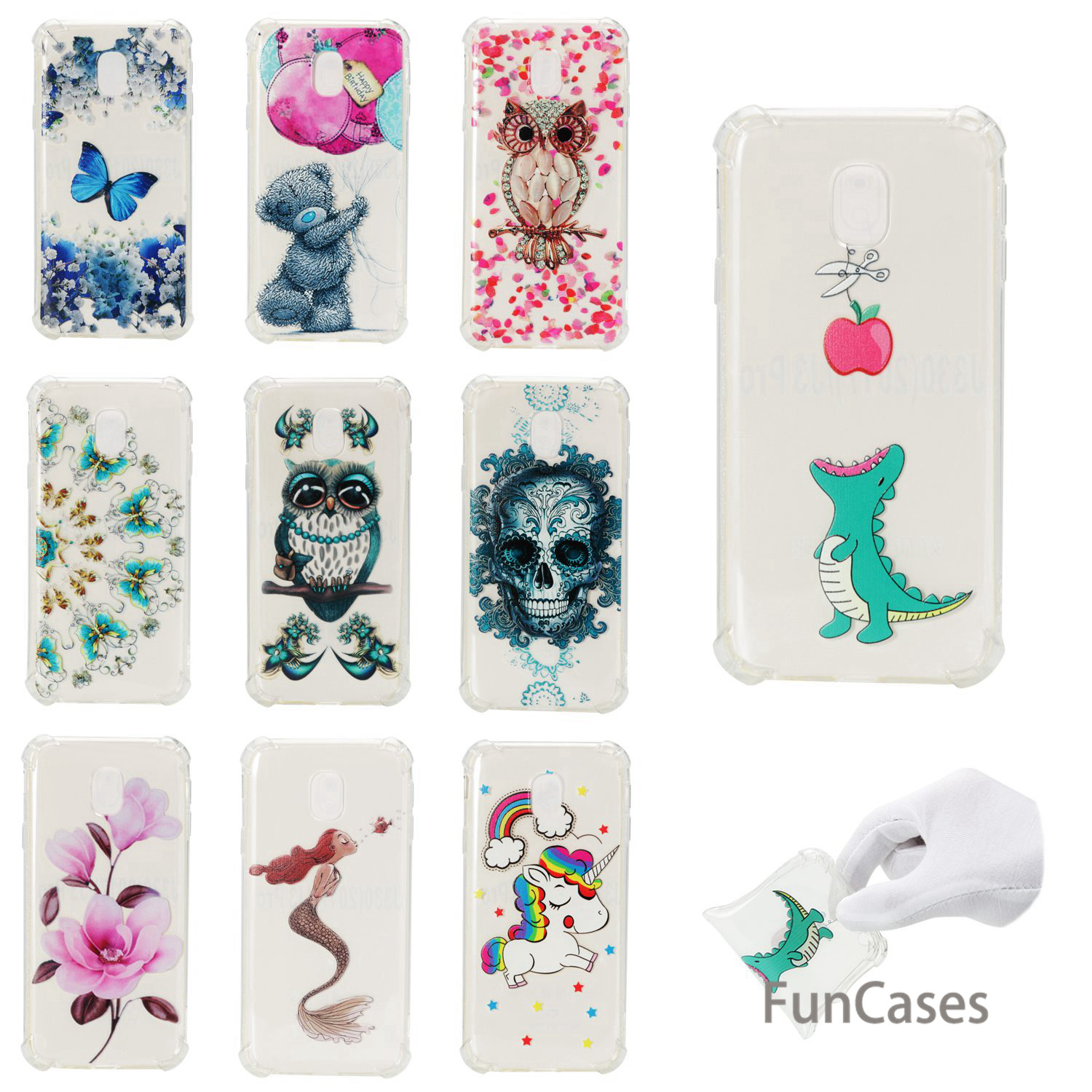 Fruit Phone Case sFor Funda Samsung J730 European Version Soft Silicone Aksesuar Phone Case Samsung Galaxy J7 2017 EU Version