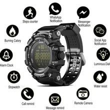 הודעת EX16 שעון חכם שעון Bluetooth שלט רחוק מד צעדים ספורט שעונים גברים שעוני יד עמיד למים IP67