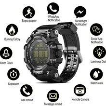 Relógio bluetooth ex16 relógio inteligente notificação de controle remoto pedômetro esporte relógio ip67 à prova dip67 água relógio de pulso masculino