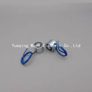 Free Shipping P25/20 Holding Electric Magnet , Lifting 5KG 50N Solenoid Electromagnet 24VDC or 12VDC HCNE1-P25/20(China)