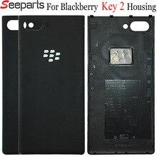Original Für Blackberry schlüssel zwei zurück Batterie Abdeckung Schlüssel 2 gehäuse Tür Hinten Glas Gehäuse Fall Für Blackberry key2 Batterie abdeckung