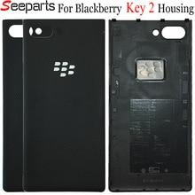 Orijinal Blackberry anahtar iki arka pil katlanır anahtar 2 konut kapı arka cam konut Case Blackberry key2 pil kapağı