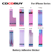 Novecel Free Shipping 10pcs Battery Adhesive Sticker For iPhone 5/5C/5S/6/6P/6S/6SP/7/7P/8/8P/X Replacement цены онлайн