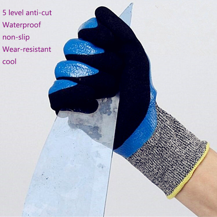 5 level anti-cut gloves waterproof non-slip matte wear-resistant cool mittens glass cut meat security hand gloves 3pair/pack