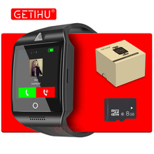 Продажа GETIHU DZ09 Q18 Смарт-часы Smartwatch Bluetooth цифровой наручные часы Спорт sim-карты телефон с Камера для iPhone, Android samsung