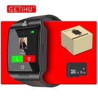 GETIHU DZ09 Q18 Thông Minh Xem Smartwatch Kỹ Thuật Số Bluetooth Cổ Tay Thể Thao Xem SIM Thẻ Điện Thoại Với Máy Ảnh Đối Với iPhone Android Samsung