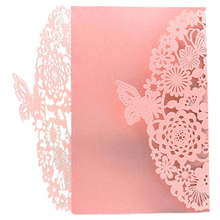 jinhao Perfect-10Pcs Delicate Carved Butterflies Romantic Party Invitation Card