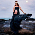New Women Black Skirt Maternity Photography Props Elegant Pregnancy Clothes Maternity Dresses For pregnant Photo Shoot Clothing