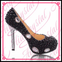 Aidocrystal 2016 New Rhinestone thin High Heels Platform Shoes Women Pumps Party Wedding Shoes heel big size35-42