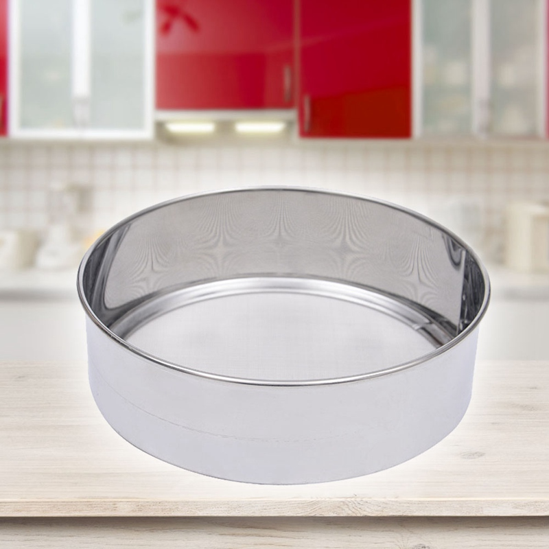 Kitchen Fine Mesh Flour Sifter Professional Round Stainless Steel  Practical  Flour Sieve Strainer Sifters Best For Kitchen
