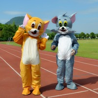 Tom Cat and Jerry Mouse Mascot Costume Adult Size High Quality Cartoon Mascot Mask