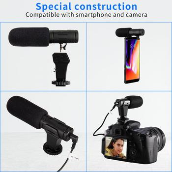 3.5mm Real-time Monitoring Cardioid Stereo Phone Microphone Video Camera Interview Mic Condenser Recording Microphone For Gopro 3.5mm Real-time Monitoring Cardioid Stereo Phone Microphone Video Camera Interview Mic Condenser Recording Microphone For Gopro 3