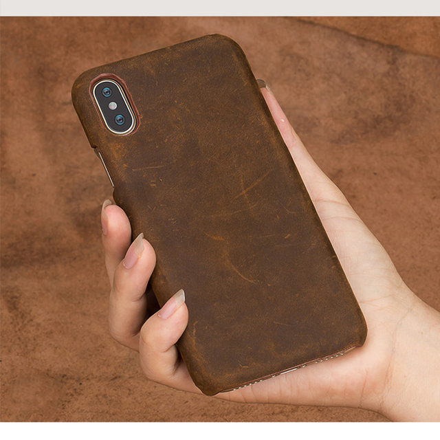 Genuine PULL-UP Leather phone case for iphone X 11 11 Pro 11 Pro Max XS XR XS MAX 8 Plus Cover for Apple 5 5S SE 6 8 7 6s Plus 6
