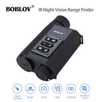 BOBLOV LRNV009 6X32 500M Ranging Finder IR Night Vision Monocular Telescope Black Compass Day And Night
