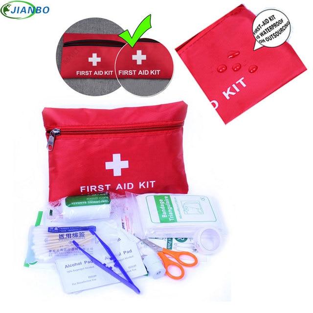 Trousse de premiers soins en plein air trousse de premiers soins à domicile fournitures de terrain de voiture portables Kits médicaux d'urgence de traitement de tremblement de terre d'auto-défense
