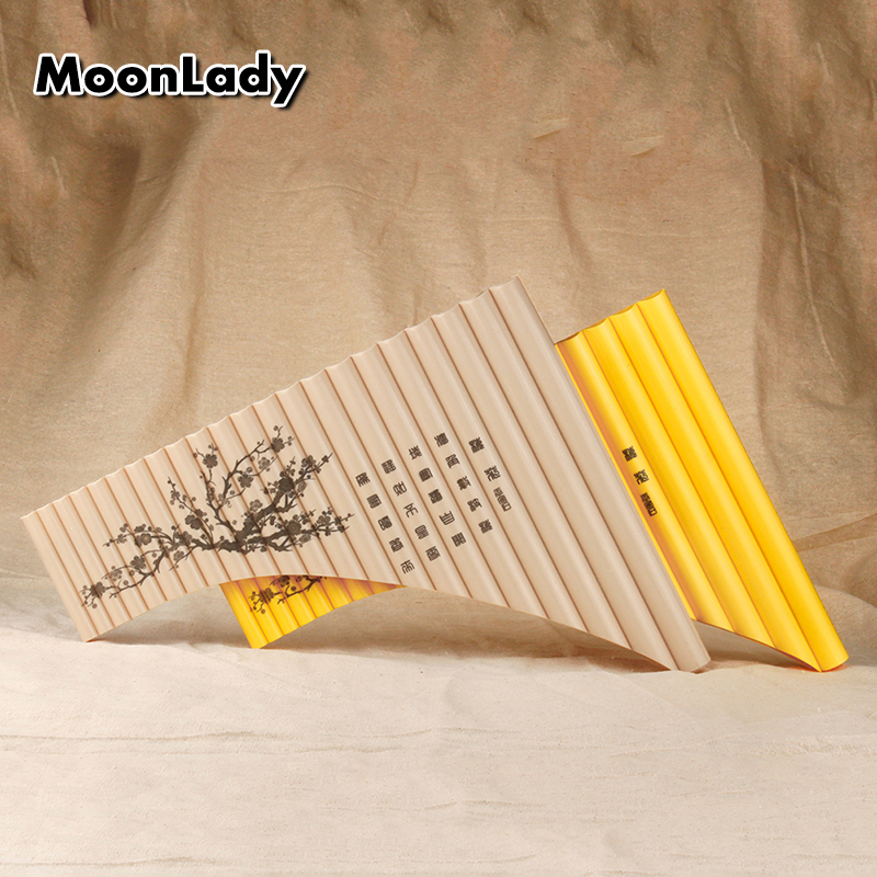 22 Pipes Pan Flute in New Style with Pipe ABS Plastic Musical Instruments Key G Woodwind Instrument Pan Pipes Easy to Learn double 16 pipes 32 tone pan flute easy learning panflute