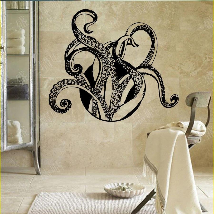 Octopus Wall Decal Vinyl Sticker Tentacles Fish Deep Ocean Animals Home Decor
