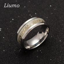 Liumo Gold Silver Color Music Glow In The Dark 316 Titanium Stainless Steel Men Women Ring Lr391