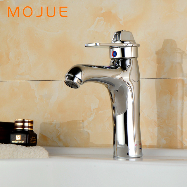Merveilleux MOJUE Nest Thermostat Bathroom Sink Faucet Hot And Cold Water Switch  Bathroom Basin Taps Brass Body