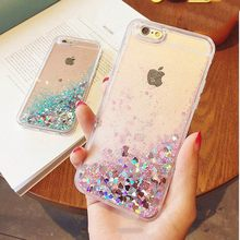 KISSCASE Glitter Bling Quicksand Phone Case For iPhone 6s 6 5s 5 SE 4s 4 8 7 Luxury Flowing Girly Cases For iPhone 8 7 6 6S Plus(China)