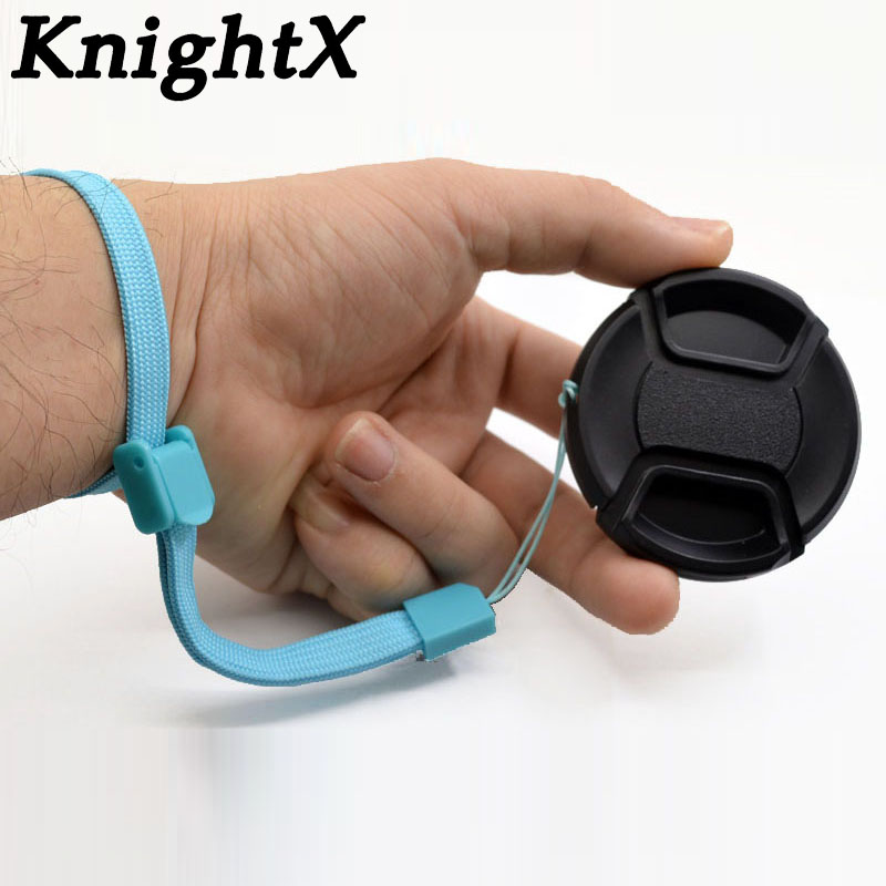 KnightX Center Pinch Lens Cap 58mm 52mm 67mm 55mm 72mm for <font><b>canon</b></font> <font><b>accessories</b></font> <font><b>550d</b></font> <font><b>eos</b></font> 1300d 750d nikon d7200 Camera image