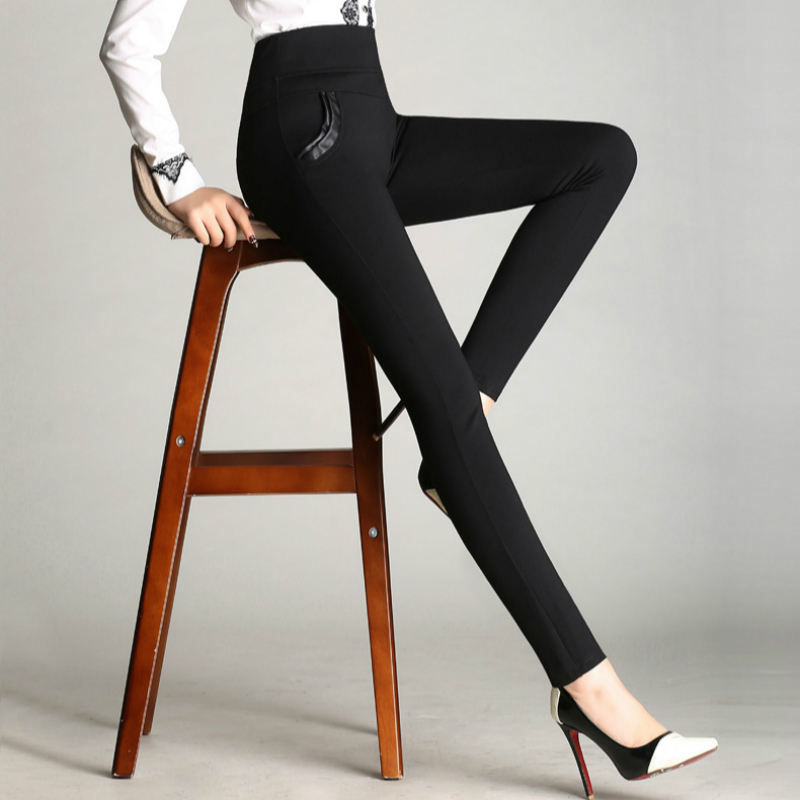 2018 new autumn winter Fashion casual high waist plus size velvet warm female women girls pencil pants trousers clothes 79104