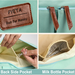 Image 4 - Pyeta ためのおむつ袋のスタッフアクセサリ、のためのママトラベルショルダーバッグ、おむつバッグボルサ maternidade ベビーケアのための