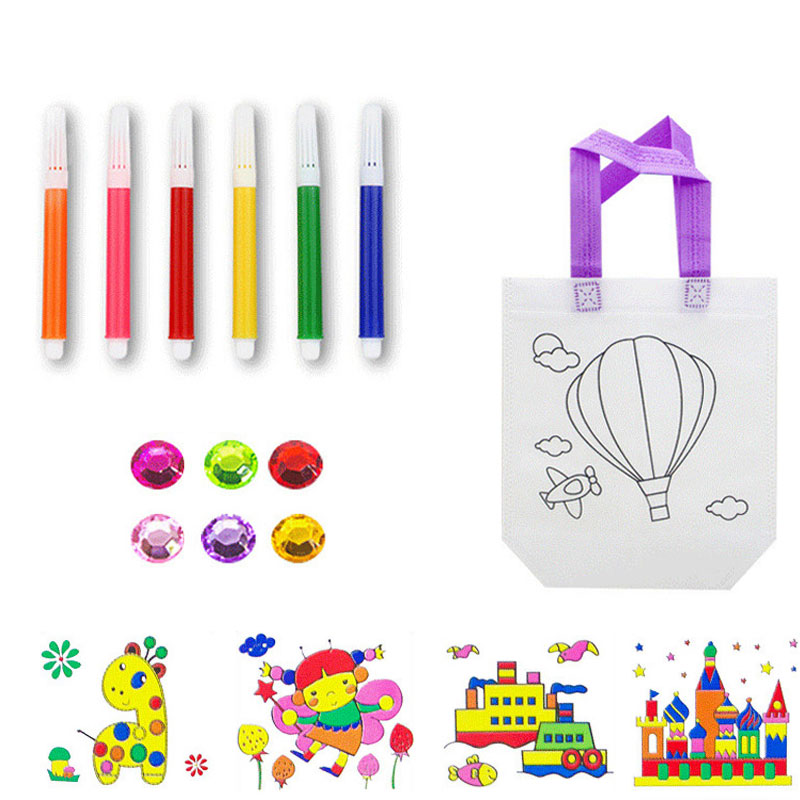 Kid DIY Drawing Craft Color Bag Children Learning Educational Drawing Toys With Safe Non-toxic Water Pen For Boy And Girl Gifts