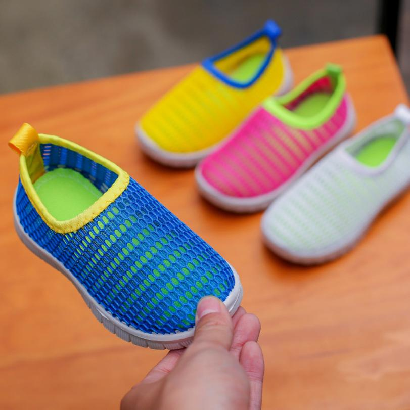 Fabric Mesh Casual Sport Sneakers Baby Boys Girl Summer Sandals Shoes Children Breathable Beach Shoe Toddlers Casual Flats 2018