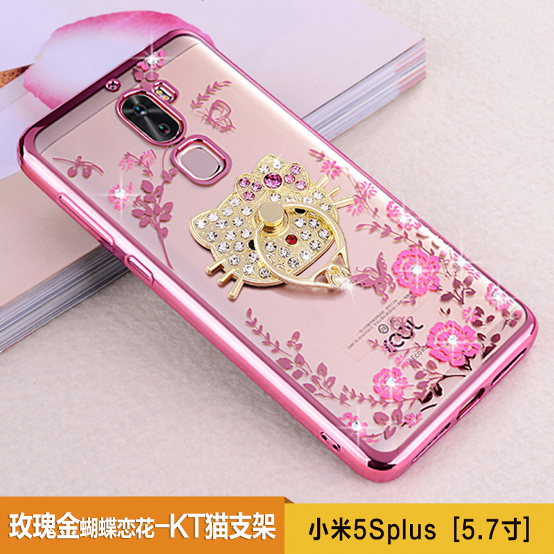 For Xiaomi Mi5S Plus Case Luxury Plating Gilded TPU Case silicone soft Back Cover Accessory Coque For Mi 5S Plus 5.7inch Fundas