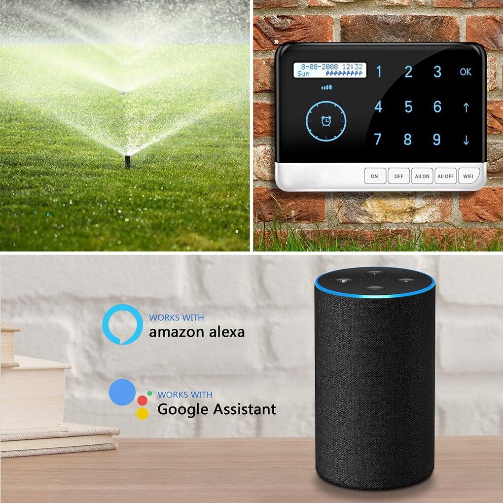 US Plug Intelligent Contrôleur D'arrosage 9 Zone Wifi Système Irrigation Minuterie Contrôleur Pour Alexa Google Voice Control Smart Home