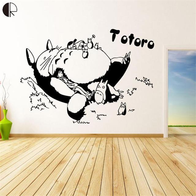 Aliexpresscom Comprar Moda Diy Anime Totoro Dibujos Animados - Dibujos-para-la-pared