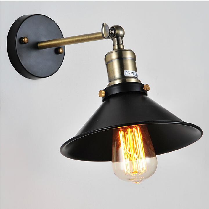 Black Retro Wall Lights : Aliexpress.com : Buy Vintage Wall Lamp Black Sconce Industrial Retro Wall Light for Bar Cafe ...