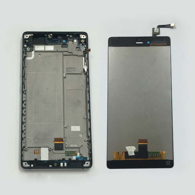Black Full LCD Display Panel Monitor + Touch Screen Digitizer Glass Assembly Frame For ZTE Nubia Z9 Max NX510J NX512J