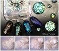 4 цвета Лазерного Белый Цвет Блеск Порошок, голографическая Блеск для ногтей гелем или Другое Украшение 10 г каждый 4 цвета
