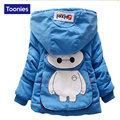 Kids Clothes Cute Cartoon Baby Winter Jacket 3 Colors Long Sleeved Winter Jacket Boys Single Breasted Hooded Boys Winter Coats