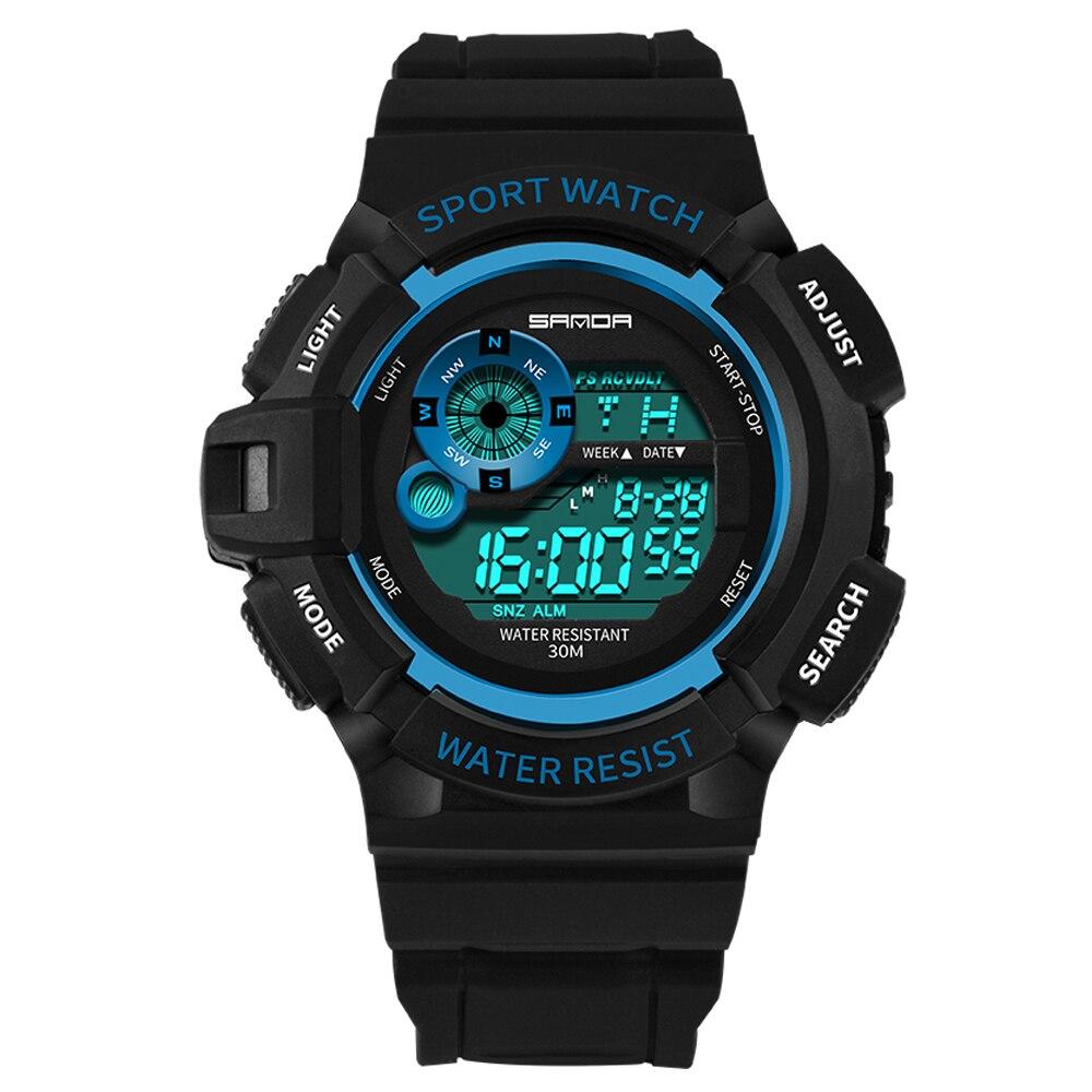 Sanda Часы мужские часы светящиеся армейские военные часы Мужчины Водонепроницаемые наручные часы си ①