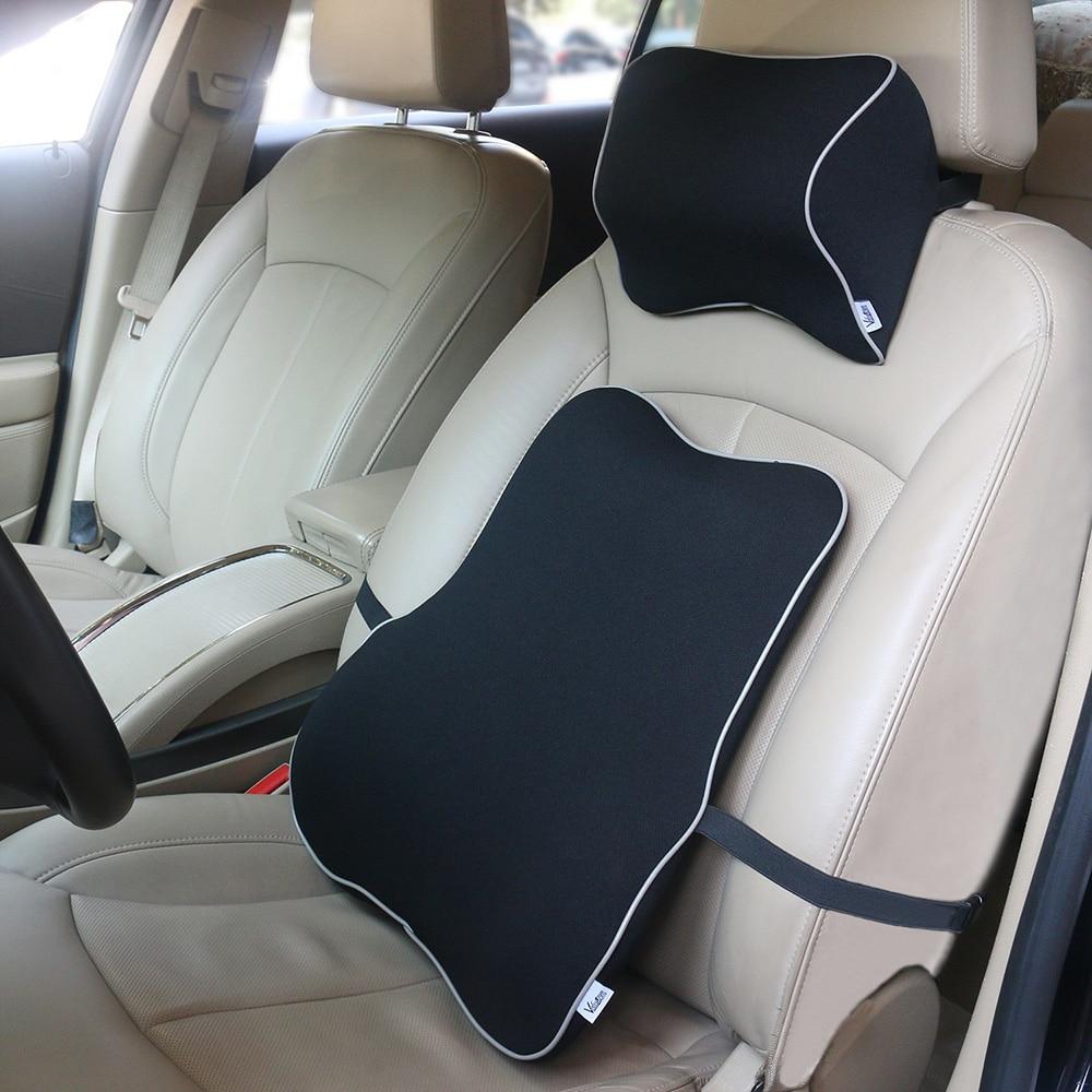 valuetom space memory foam car lumbar support pillow auto neck pillow headrest lumbar pillow. Black Bedroom Furniture Sets. Home Design Ideas