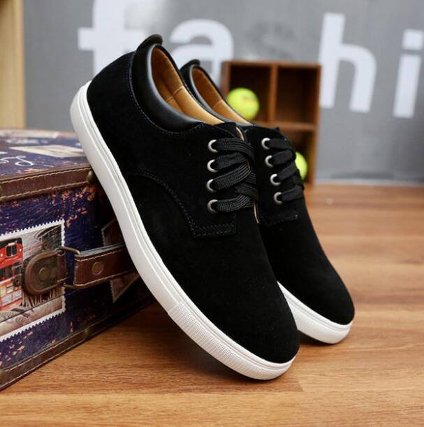 Men Casual Shoes Genuine Leather Sneakers Lace Up Flats Suede Sneakers KMD01-24-1 Men Leather Shoes Summer Plus Size 36-46