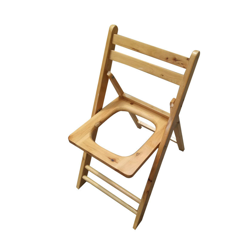все цены на Solid Wood Potty Chair Household Foldable Old People Commode Chair Pregnant Woman Portable Potty Stool Convenient Commode Stool