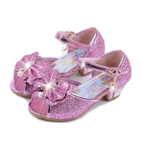 Girls High Heels Bowtie Sandals Children Buckle Strap Glitter Sandals Kids Princess Pearl Sandals Girls Summer