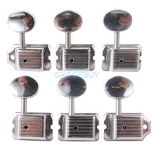 6-in-line Vintage Style Electric Guitar String Tuning Pegs Keys Silver 6R Tuner Machine Heads For Guitar New