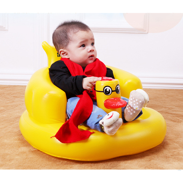 Kawaii Cute Float Big Yellow Duck Inflatable Floats Pool Toys 50*23*12CM Animal Swimming Seat Child Water Toy Baby For Baby