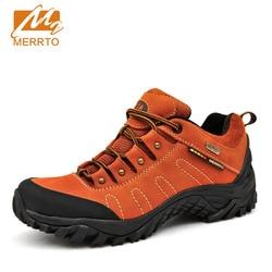 New MERRTO Women Walking Shoes Comfort Hiking Shoes Waterproof Cowhide Trekking Shoes Breathable Climbing Shoes Sneakers