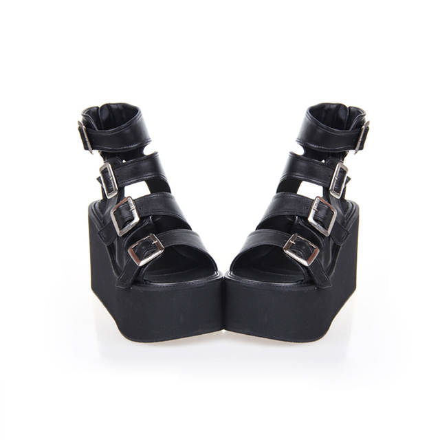 9d3916b2585 Angelic imprint Summer New Fashion Women Sandals Punk Rock High Heel  cosplay ladies Platform lolita Shoes 35-46 6013